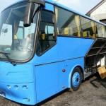 fot. 6 Polerowanie autobusu. BOVA przed polerowaniem